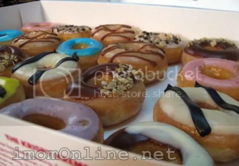 Krispy Kreme box of minis mini doughnuts