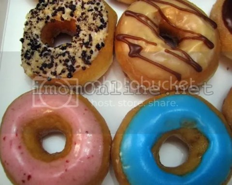 Krispy Kreme mini doughnuts caramel strawberry bubblegum