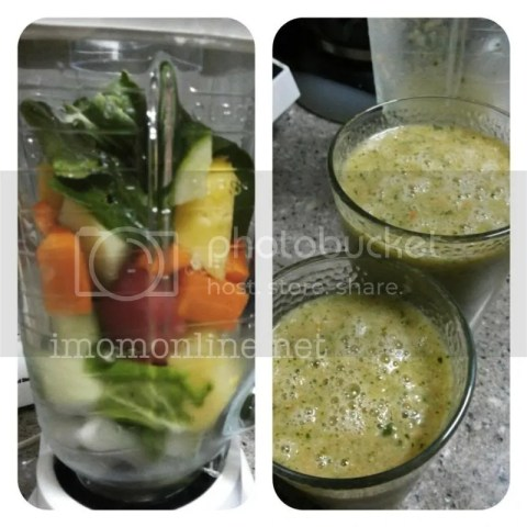 mixed greens and fruits healthy smoothies