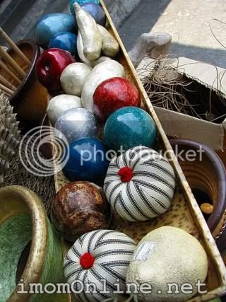 Tray of capiz balls dapitan street market