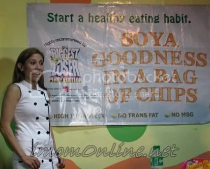 Healthy lunch cooking demo with Nadine Tengco Soyami Chips