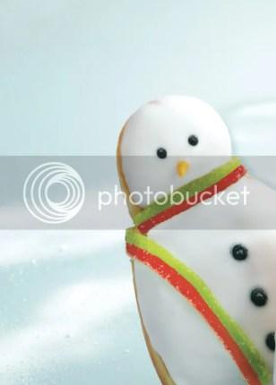 Krispy Kreme Christmas Doughnuts snowman