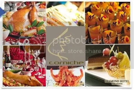 Two vouchers for lunch/dinner buffet at Corniche, Diamond Hotel - Manila for 1st and second prizes.