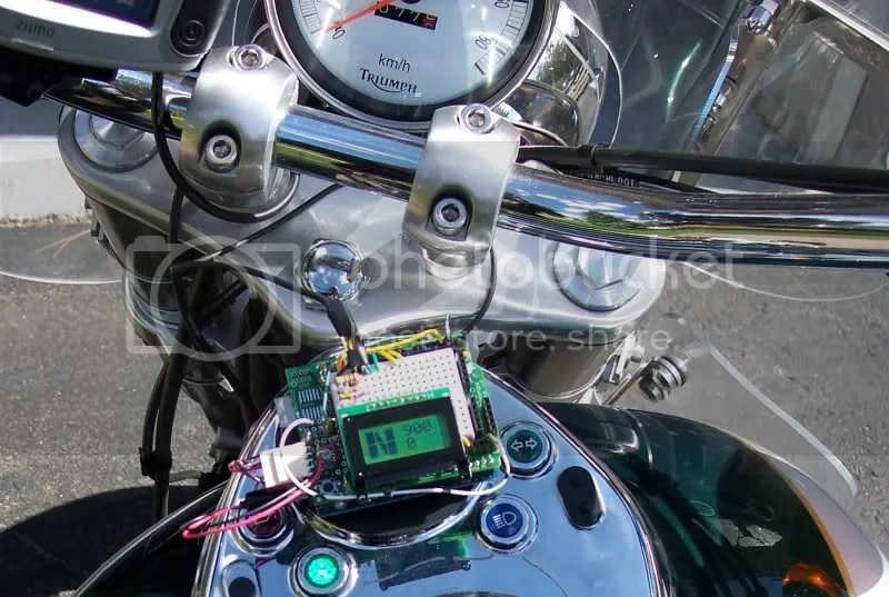 Motorcycle Control Panel with Arduino + Bluetooth