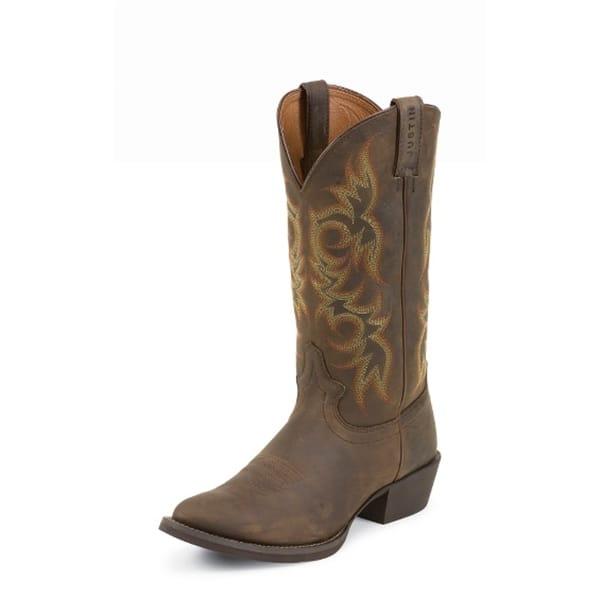 Justin Western Boots Men39s Sorrel Apache Boots 2551