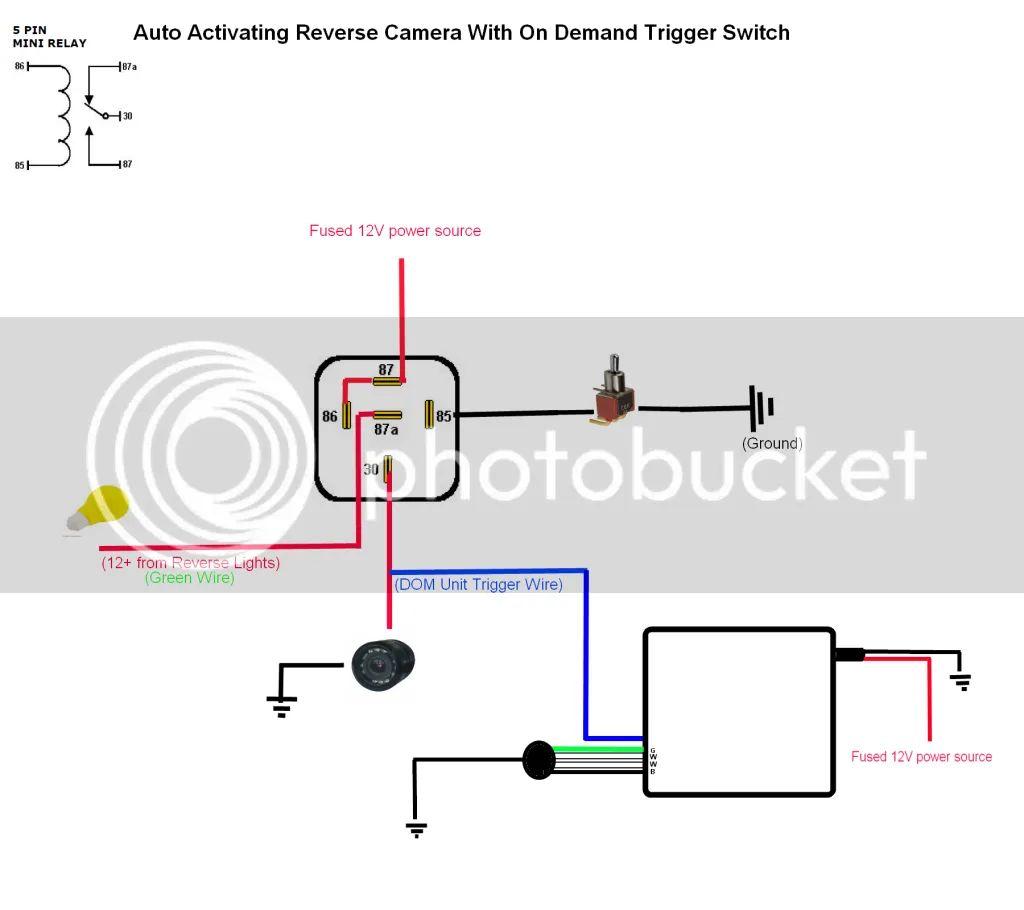 wiring diagram for reversing camera