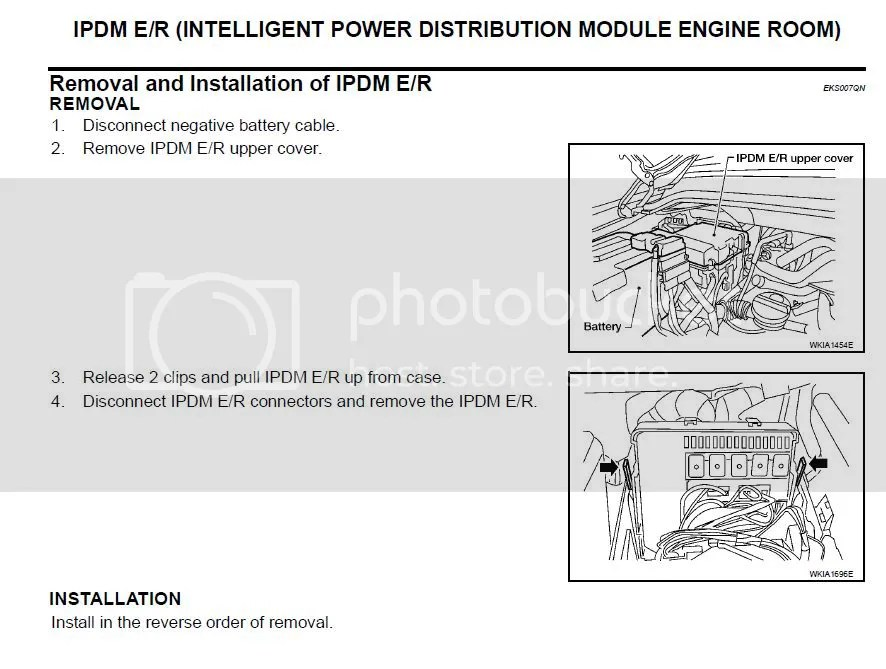 IPDM - ECU relay problems, symptoms and solution - Nissan Titan Forum