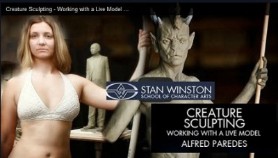 Stan Winston School How to Sculpt Creatures – Working with a Live Model