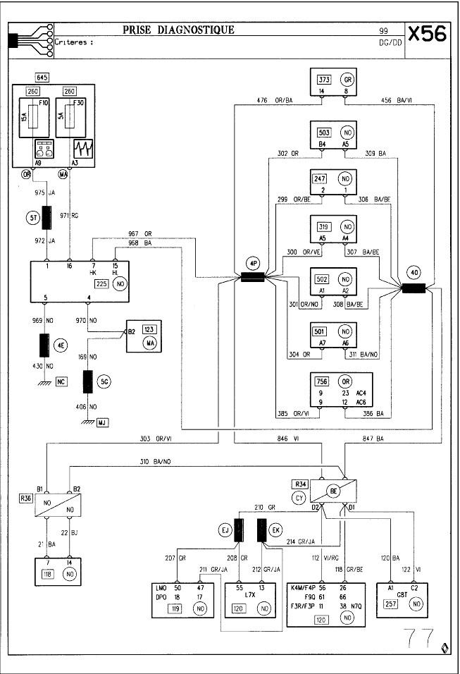 renault laguna 1 schema cablage