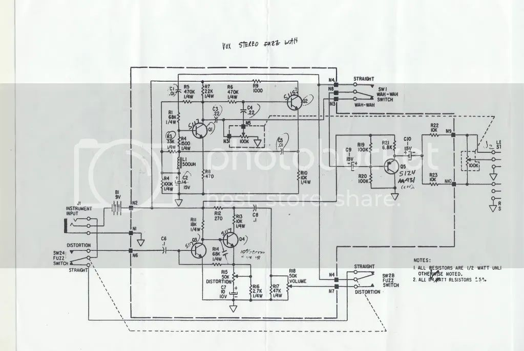 vox wah wiring diagram