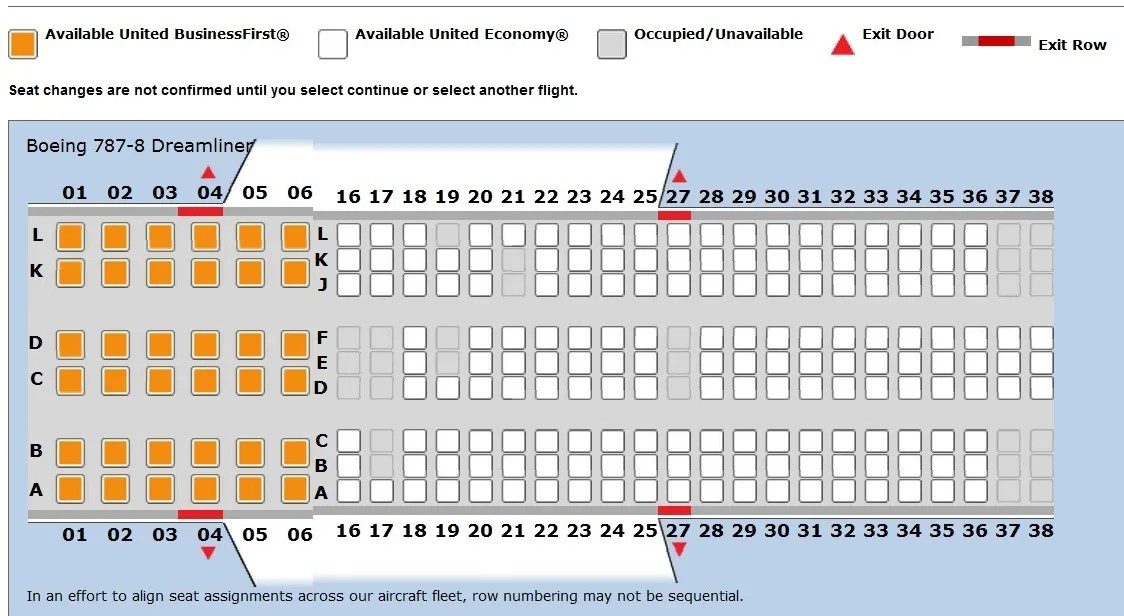 United\u0027s 787 Seat Map - View from the Wing