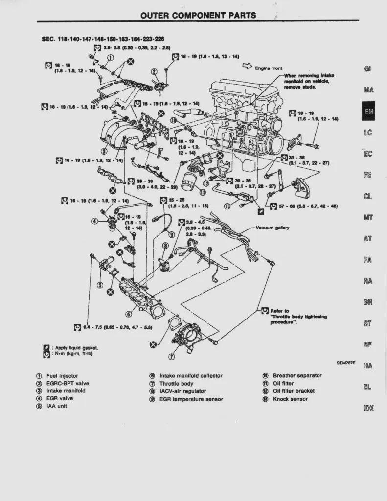 nissan 240 sx engine diagrams