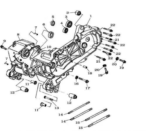 chinese 150cc atv engine diagram