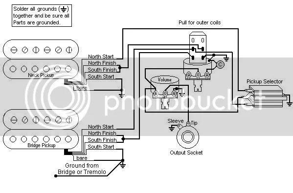emg wiring diagram 1 volume no tone