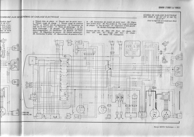 1978 bmw r100 7 schema cablage