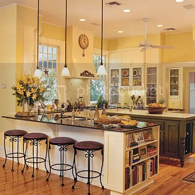 Pictures Of White Cabinets With Yellow Walls?