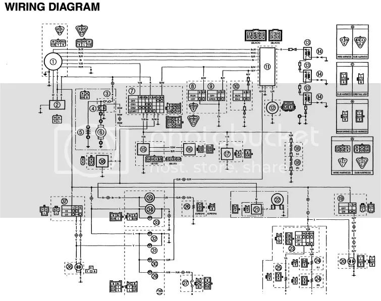 yamaha snowmobile 250 wiring diagram