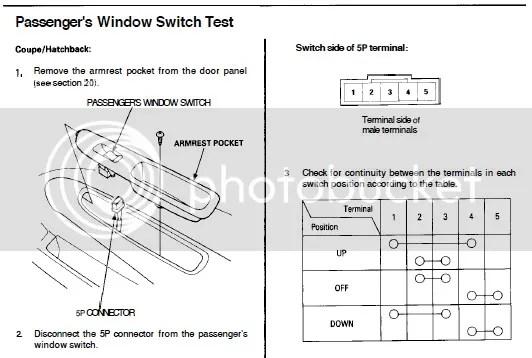 Honda Civic Power Window Wiring Diagram Circuit Wiring Schematic