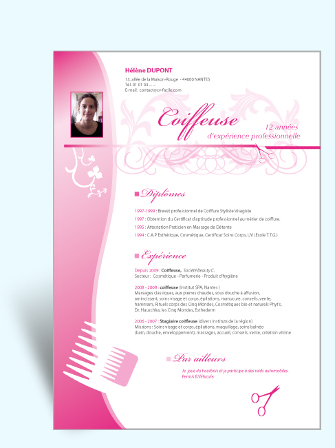 faire un cv avec in design