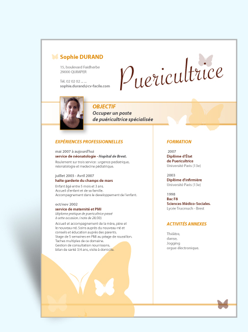 in design jolie cv