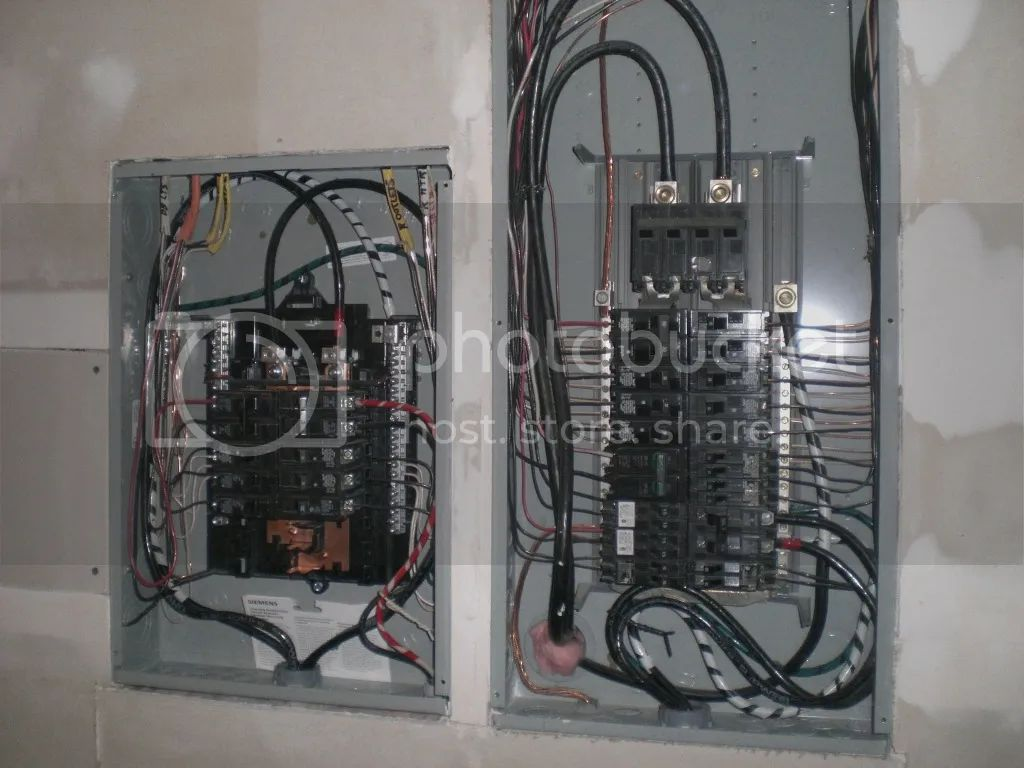 wire for 100a sub panel diagram