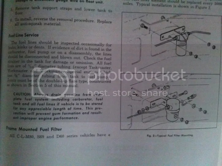 Placing a Fuel Filter between the tank and fuel pump? - The 1947