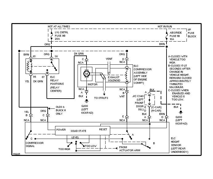 97 buick park avenue wiring diagram