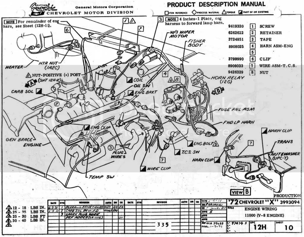 1972 Chevelle Engine Wiring Diagram