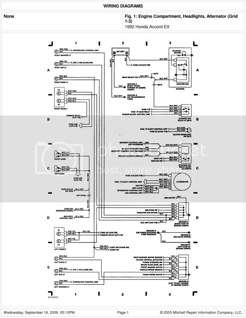 2009 honda pilot radio wiring diagrams