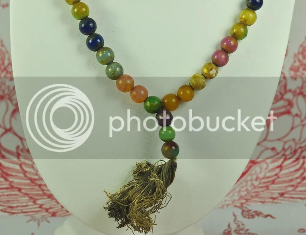 Antique Praying Necklace 108 Beads Mala 9 Color 9 Gems