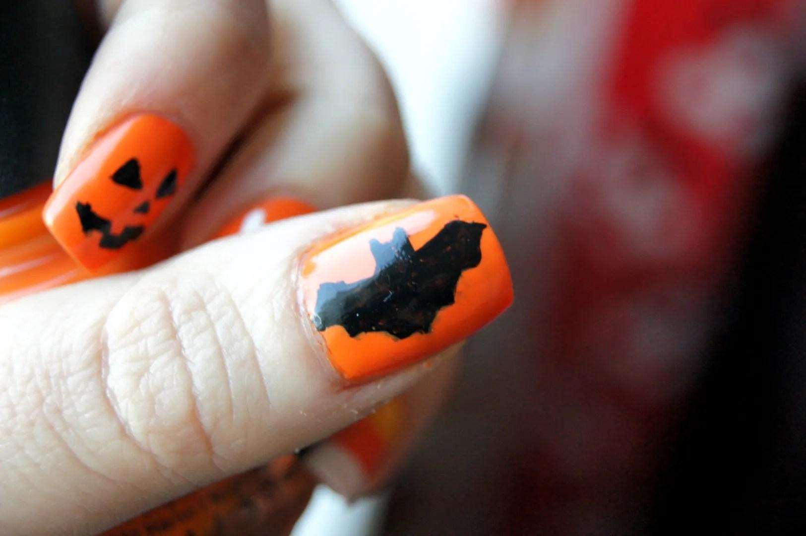 Halloween Nails Mix N Match Orange Handmade Dreams Of