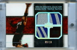 03/04 Exquisite Allen Iverson Quad Jersey Patch /3