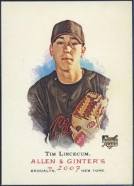 Tim Lincecum Topps Allen & Ginter RC Rookie