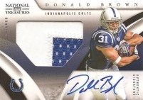 Donald Brown National Treasures Autograph RC