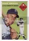 1954 Topps Baseball Duke Snider #32