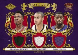 09/10 Panini Crown Royale Royalty Jennings Curry Evans