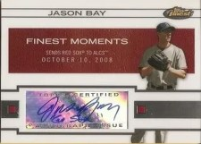 2009 Topps Finest Jason Bay Finest Moments Autograph