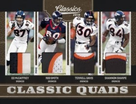 2010 Panini Classics Quad Broncos Jersey Card