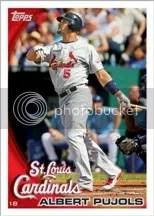 2010 Topps Series 1 One Baseball Card Albert Pujols