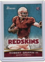2012 Bowman Robert Griffin III Variation RC Card