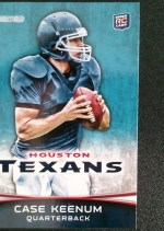 2012 Bowman Case Keenum Photo Variation RC Card