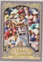 2012 Topps Gypsy Queen Mike Schmidt Sp Photo Variation
