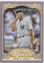2012 Topps Gypsy Queen Mariano Rivera Sp Variation Card