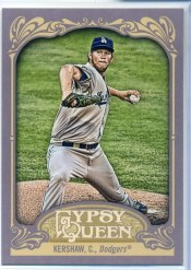 2012 Topps Gypsy Queen Clayton Kershaw Sp Variation Card