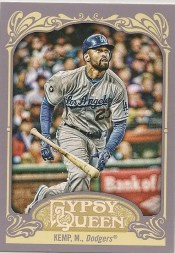 2012 Topps Gypsy Queen Matt Kemp Base Card