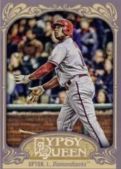 2012 Topps Gypsy Queen Justin Upton Sp Photo Variation