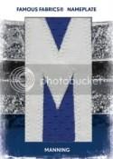 Famous Fabrics Peyton Manning Name Plate