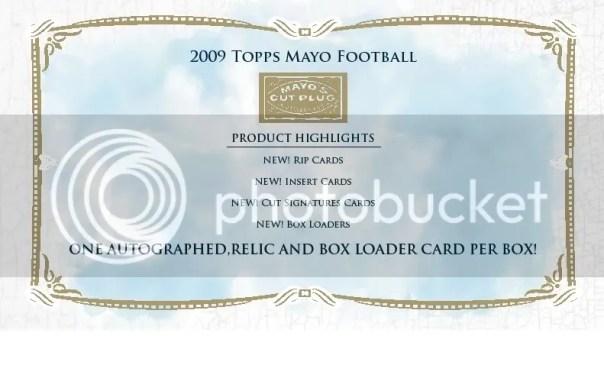 2009 Topps Mayo Football Box