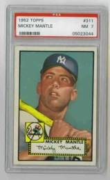 1952 Topps Mickey Mantle PSA 7