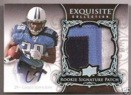 2008 UD Exquisite Football RC Chris Johnson Patch Auto RC